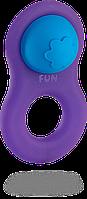 Эрекционное кольцо с шариком 8ight Fun Factory фиолетовое