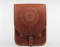 Кожаная сумка-планшет для документов, большая коричневая сумка А4