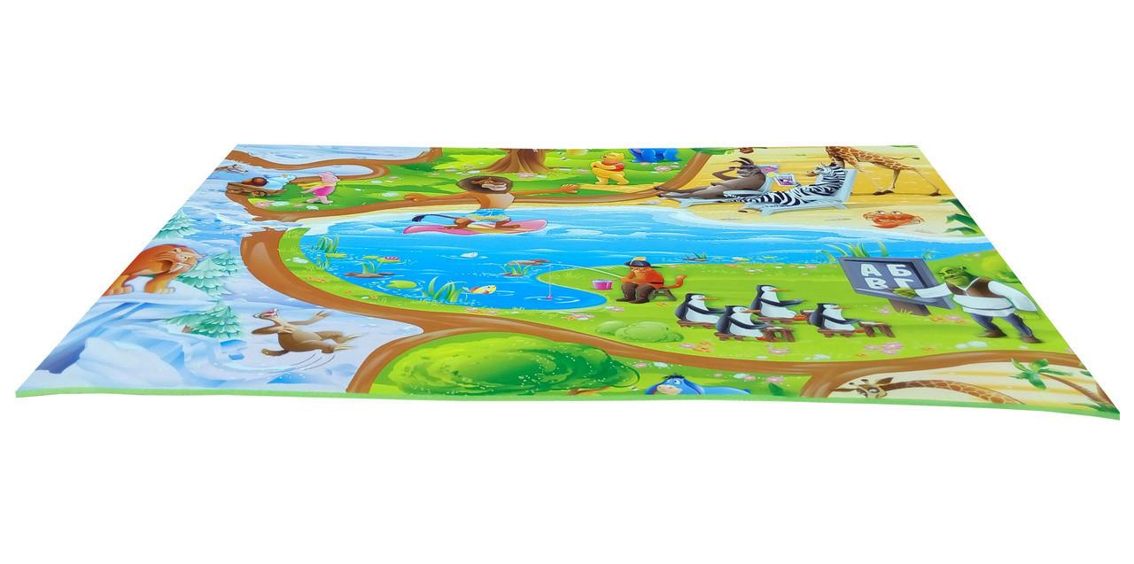 "Развивающий детский игровой коврик ""Мадагаскар"" M 670x1200x8мм"