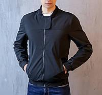 Мужская куртка демисезонная черная Pobedov Bomber