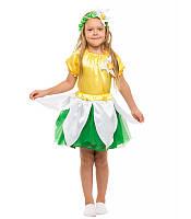 Костюм Нарцисс для девочки 4-9 лет. Детский карнавальный костюм на праздник Весны 341