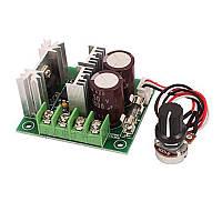 ШИМ регулятор оборотов двигателя постоянного тока с выносной ручкой PWM DC12-40В 10А