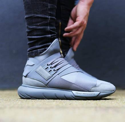 Женские Кроссовки Adidas YAMAMOTO Y-3 QASA серые, фото 2