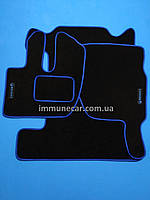 Авто ковры салона велюровые RENAULT PREMIUM 1997> синие