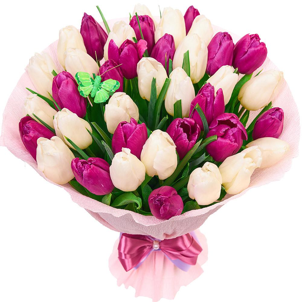 Букет тюльпанов к 8 марта ассортимент
