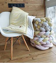 Детский велюровый плед в кроватку 100 х 80 см (цвет под заказ)