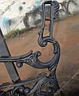 Опора лавки садово-парковой чугунная с подлокотником № 10, фото 3