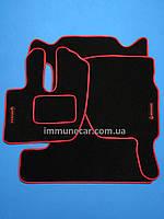 Авто ковры салона велюровые RENAULT PREMIUM 1997> красные
