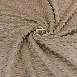 Плюш minky светло-коричневого цвета М-11140, фото 3