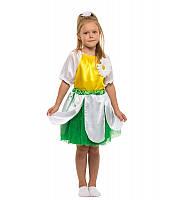 Костюм Ромашка для девочки 4-9 лет. Детский карнавальный костюм на праздник Весны
