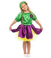 Костюм Фиалка для девочки 4-9 лет. Детский карнавальный костюм на праздник Весны.