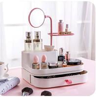 Настольный органайзер для косметики и украшений с зеркалом UKC 7009