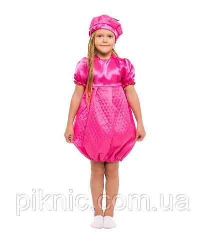Детский карнавальный костюм Малинка для девочки 4-8 лет. Платье ягода малина 341, фото 2
