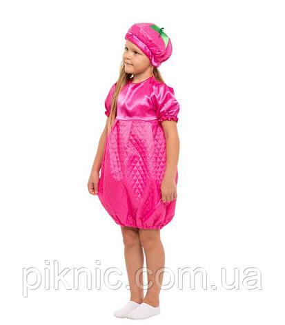 Костюм Малинка для девочки 4-8 лет. Детский карнавальный костюм на праздник Весны. Малина, фото 2