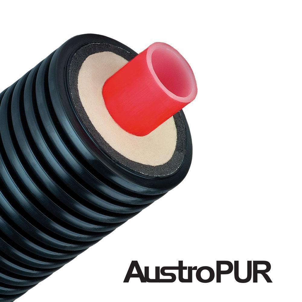Гибкая предизолированная труба AustroPUR PE-Xa 250/1x160x14.6 мм