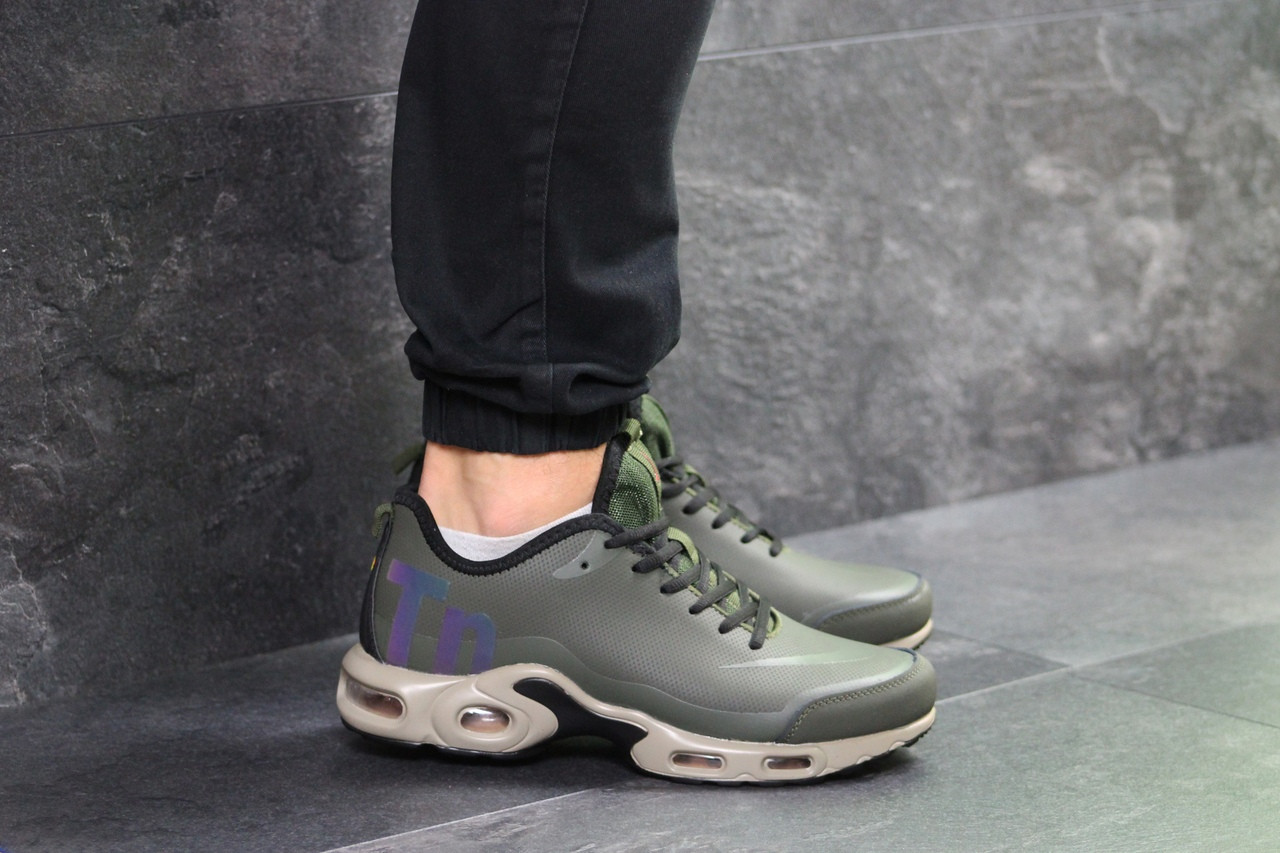 1addffd7 Мужские кроссовки Nike Air Max TN темно зеленые / кроссовки мужские Найк