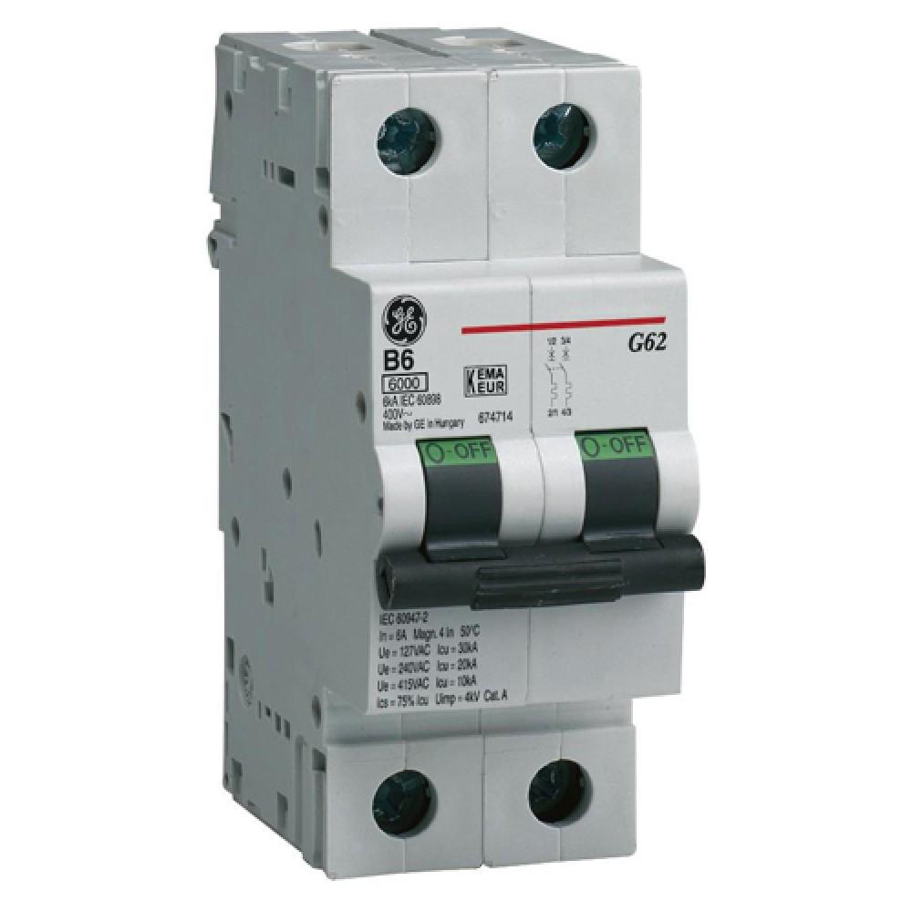Автоматический выключатель General Electric G62D06 двухполюсный, 674795