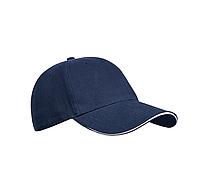 Бейсболка темно-синяя, шестиклинка, плотные - 320 г/м, модель Golf, TM Floyd, под нанесение логотипов, фото 1