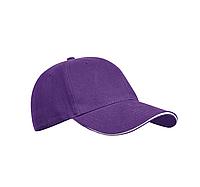 Бейсболка фиолетовая, шестиклинка, плотные - 320 г/м, модель Golf, TM Floyd, под нанесение логотипов