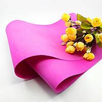 Фоамиран Китай ярко розовый, 1/2 м, 1 мм