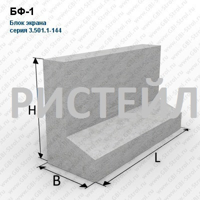 Блоки экрана железобетонные серия 3.501.1-144