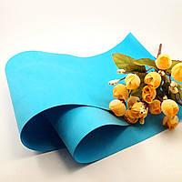 Фоамиран Китай голубой лазурный, 1/2 м, 1 мм