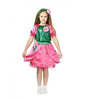 Костюм Роза розовая для девочки 3-5-8 лет. Детский карнавальный костюм на праздник Весны.