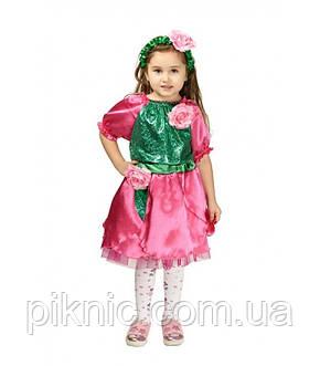 Костюм Роза розовая для девочки 3-5-8 лет. Детский карнавальный костюм на праздник Весны., фото 2