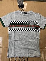 Модные подростковые футболки для мальчиков,разм 8-16 лет,95% хлопок