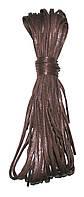 Шнурки Темно коричневий просочені плоскі вузькі 70см
