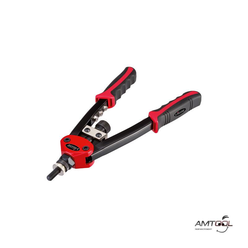 Заклёпочник универсальный для заклёпок с потайной головкой и гаек Vigor V3735