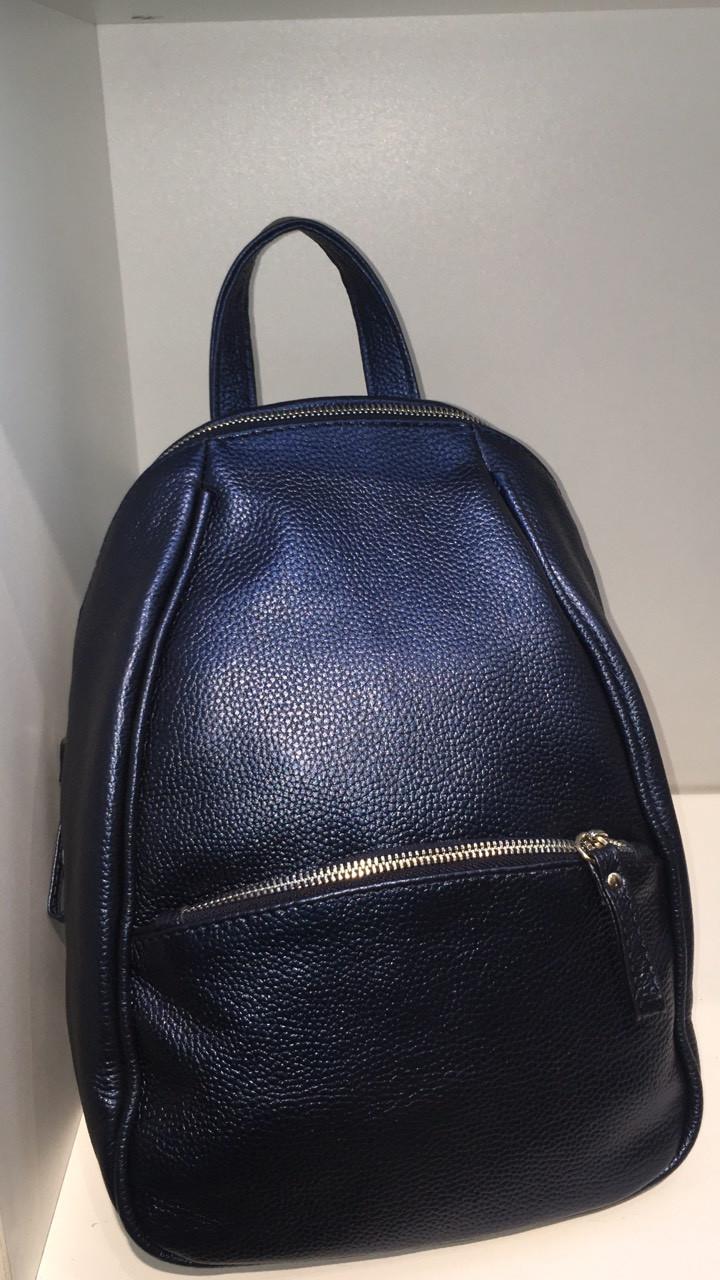 Рюкзак женский из натуральной кожи флота
