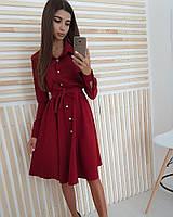 Женское платье рубашка с поясом