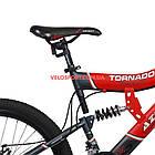 Подростковый велосипед Azimut Tornado 24 D серо-красный, фото 7