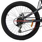 Подростковый велосипед Azimut Tornado 24 D серо-красный, фото 9