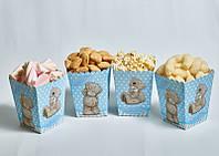 """Коробочки для сладостей """"Мишка Тедди голубой"""" 5 шт/уп."""