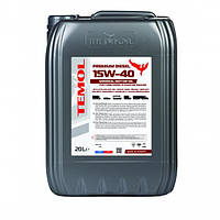 Моторное масло ТEMOL PREMIUM DIESEL 15W-40 CI-4/SL 20 л