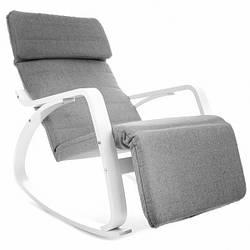 Кресло-качалка Oscar серо-белый