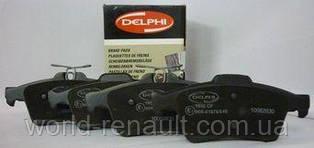 Комплект задних тормозных колодок Рено Лагуна III / DELPHI LP1958