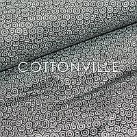 ✁ Отрезы хлопковой ткани Ракушки черно-белые, фото 1