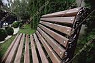 Лавка садово-парковая чугунная со спинкой №2, фото 3