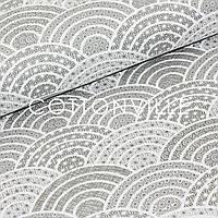 ✁ Отрезы хлопковой ткани Волны-узоры серая, фото 1