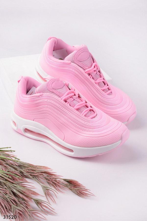 Кроссовки женские розовые (пудра) эко-кожа