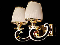 Бра классическое с подсветкой рожков золото/хром 8343-2