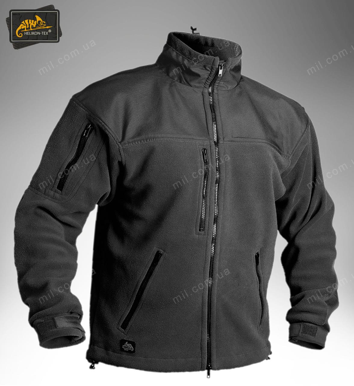 Тактическая флисовая куртка/ кофта Helikon-Tex® Classic Army (черная)