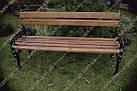 Лавка садово-парковая чугунная со спинкой №3, фото 3