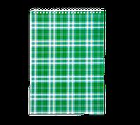 "Блокнот А4, Buromax ""Shotlandka"", 48 арк.,картон. обкл., 55г/м2,зелений(BM.2460-04)"