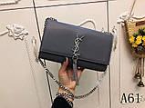 Сумка, клатч Kate Ив Сен Лоран гладкая натуральная кожа, цвет серый, фото 2