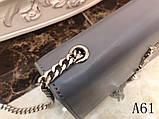 Сумка, клатч Kate Ив Сен Лоран гладкая натуральная кожа, цвет серый, фото 3