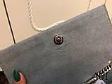 Сумка, клатч Kate Ив Сен Лоран гладкая натуральная кожа, цвет серый, фото 6